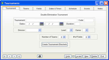 Tournament screen shot